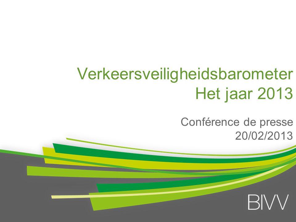 Verkeersveiligheidsbarometer Het jaar 2013 Conférence de presse 20/02/2013