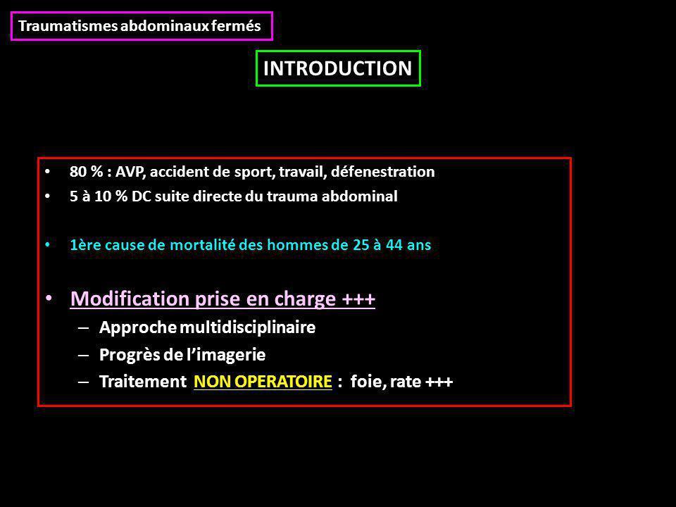 80 % : AVP, accident de sport, travail, défenestration 5 à 10 % DC suite directe du trauma abdominal 1ère cause de mortalité des hommes de 25 à 44 ans