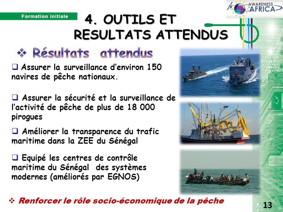  Assurer la surveillance d'environ 150 navires de pêche nationaux.  Assurer la sécurité et la surveillance de l'activité de pêche de plus de 18 000