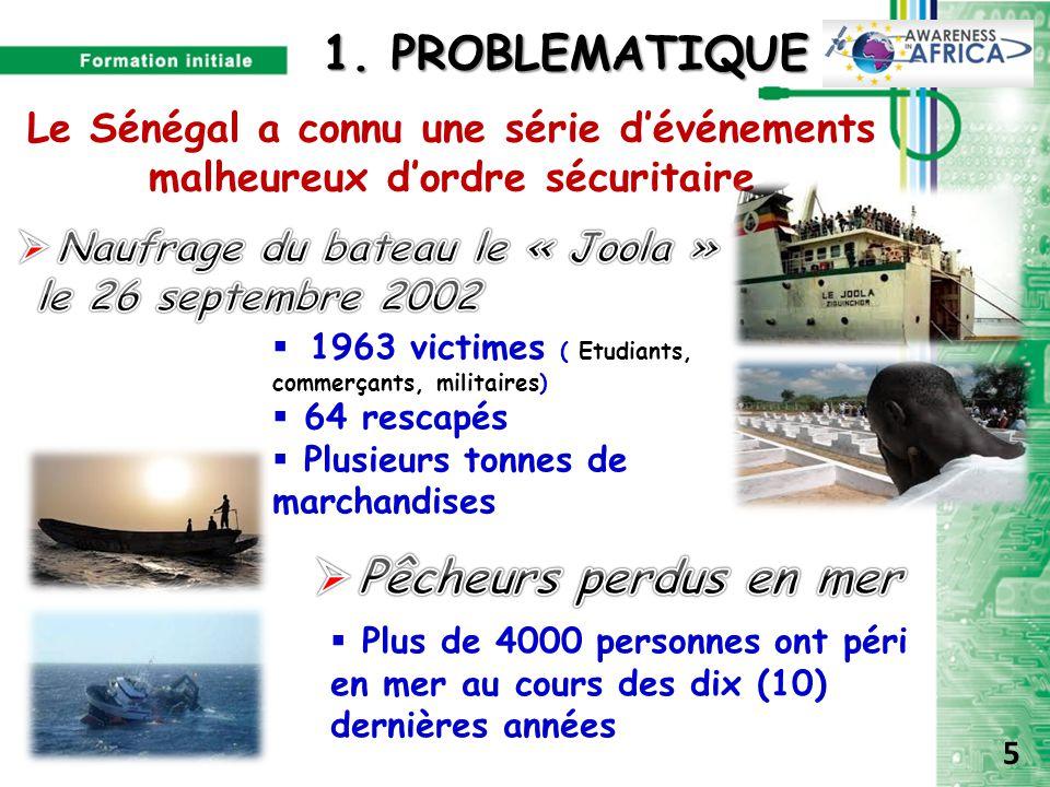 Le Sénégal a connu une série d'événements malheureux d'ordre sécuritaire  1963 victimes ( Etudiants, commerçants, militaires)  64 rescapés  Plusieu