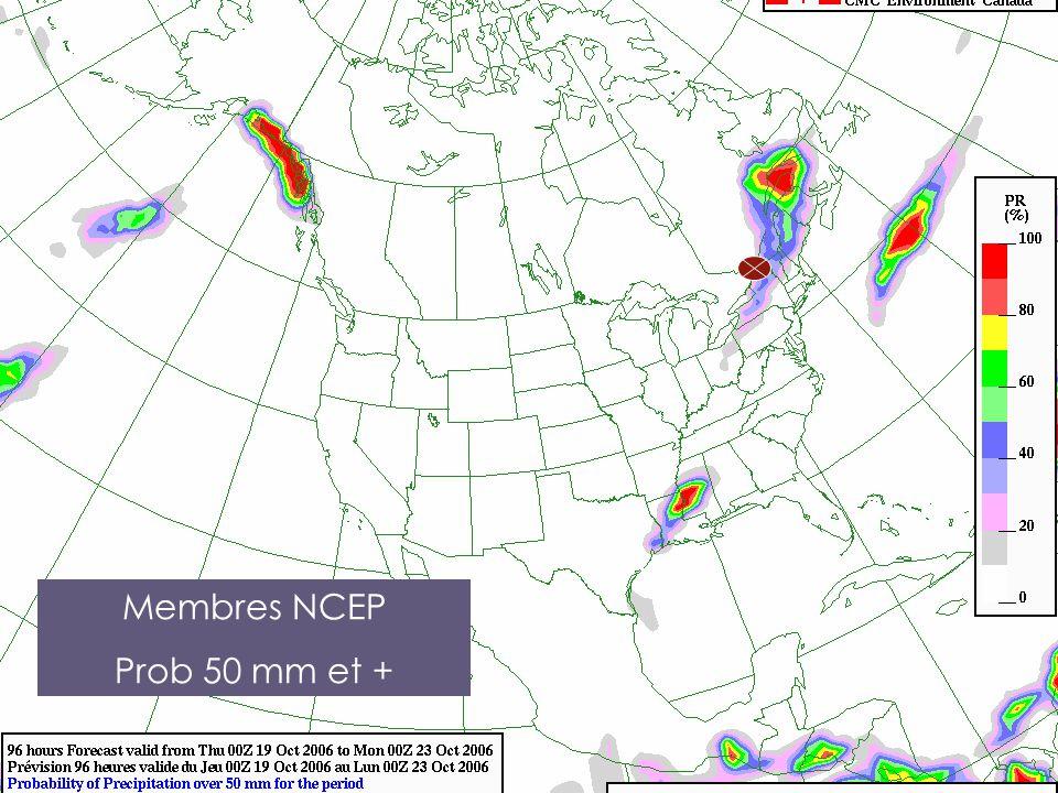 Membres NCEP Prob 50 mm et +