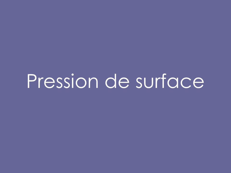Pression de surface