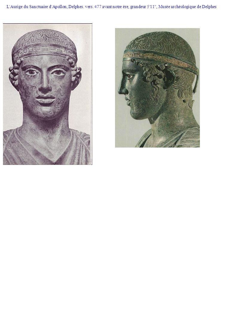 L'Aurige du Sanctuaire d'Apollon, Delphes. vers. 477 avant notre ère, grandeur 5'11
