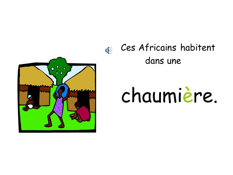 Ces Africains habitent dans une chaumière.