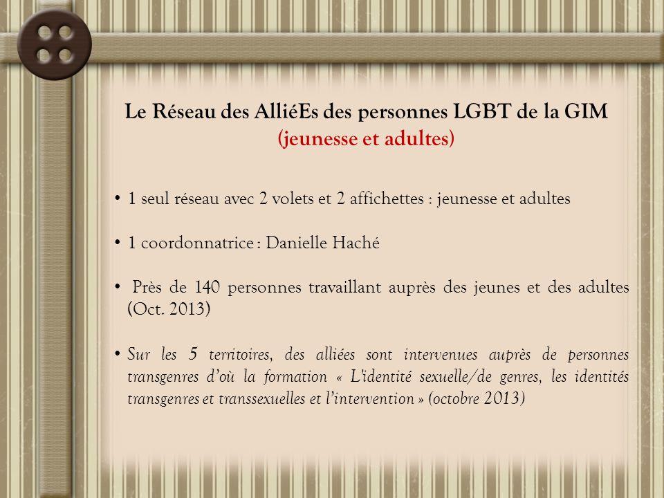 Le Réseau des AlliéEs des personnes LGBT de la GIM (jeunesse et adultes)