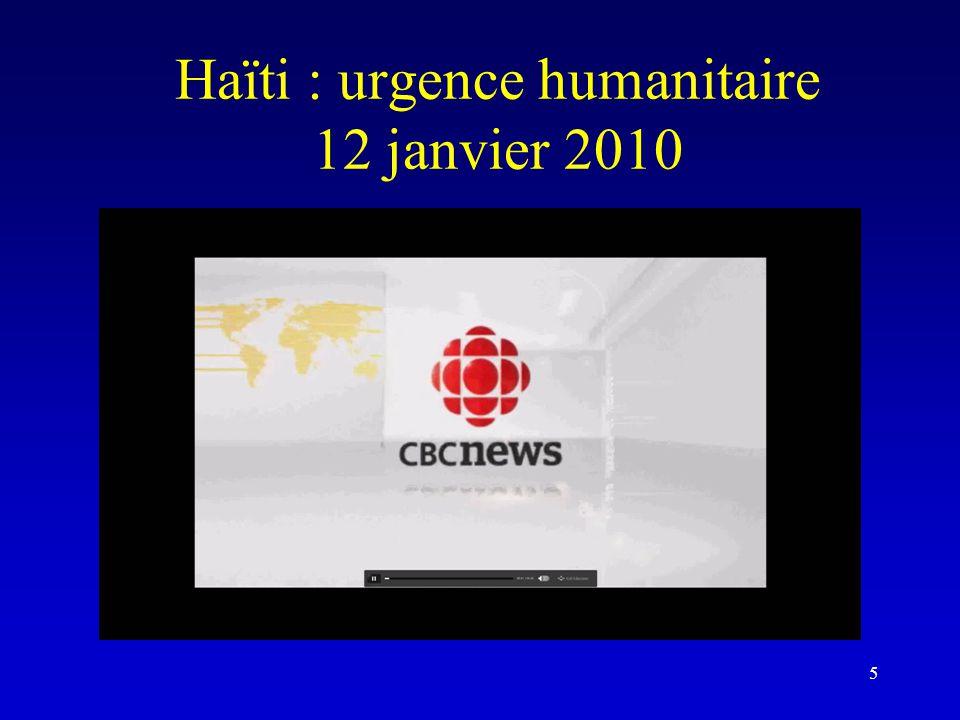 Haïti : urgence humanitaire 12 janvier 2010 5