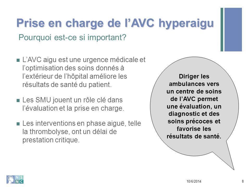 Une synthèse des recommandations pour les pratiques optimales dans le continuum des soins de l'AVC Les RPO abordent les sujets clés.