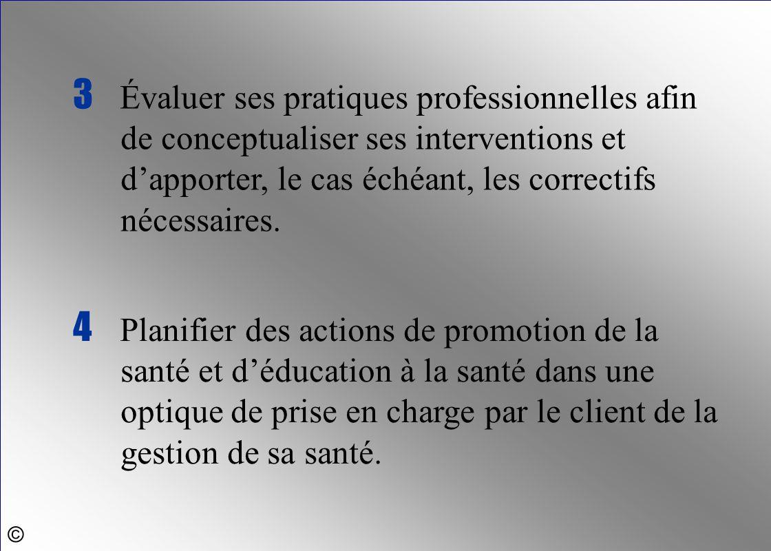 4 Planifier des actions de promotion de la santé et d'éducation à la santé dans une optique de prise en charge par le client de la gestion de sa santé