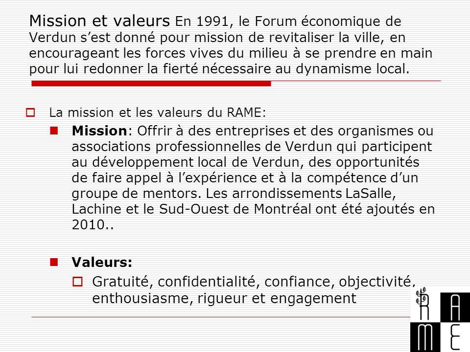 Mission et valeurs En 1991, le Forum économique de Verdun s'est donné pour mission de revitaliser la ville, en encourageant les forces vives du milieu à se prendre en main pour lui redonner la fierté nécessaire au dynamisme local.