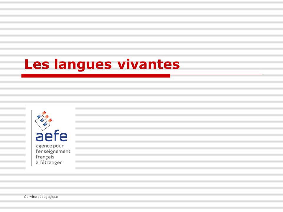 Service pédagogique Les langues vivantes