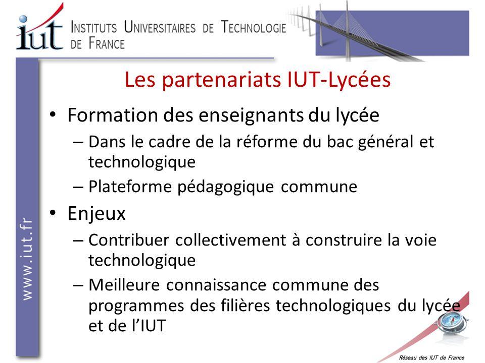 Les partenariats IUT-Lycées Actions d'information et d'orientation – Actions communes en faveur de la valorisation des sciences et technologie (semaine de sciences, etc.) – Actions d'information dans le cadre de l'orientation post-bac Exemple ARIUT Midi-Pyrénées