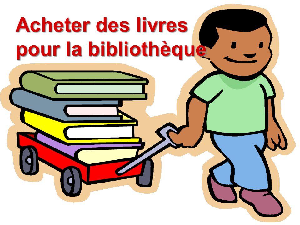Acheter des livres pour la bibliothèque