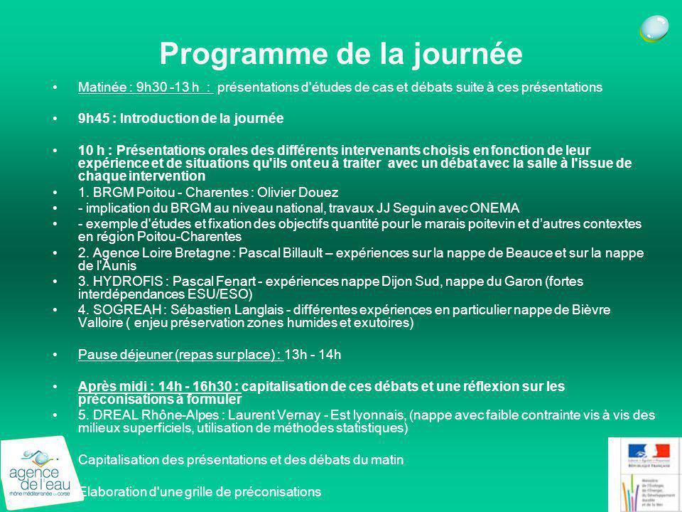 Programme de la journée Matinée : 9h30 -13 h : présentations d'études de cas et débats suite à ces présentations 9h45 : Introduction de la journée 10