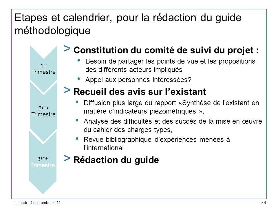 Etapes et calendrier, pour la rédaction du guide méthodologique > Constitution du comité de suivi du projet : Besoin de partager les points de vue et les propositions des différents acteurs impliqués Appel aux personnes intéressées.
