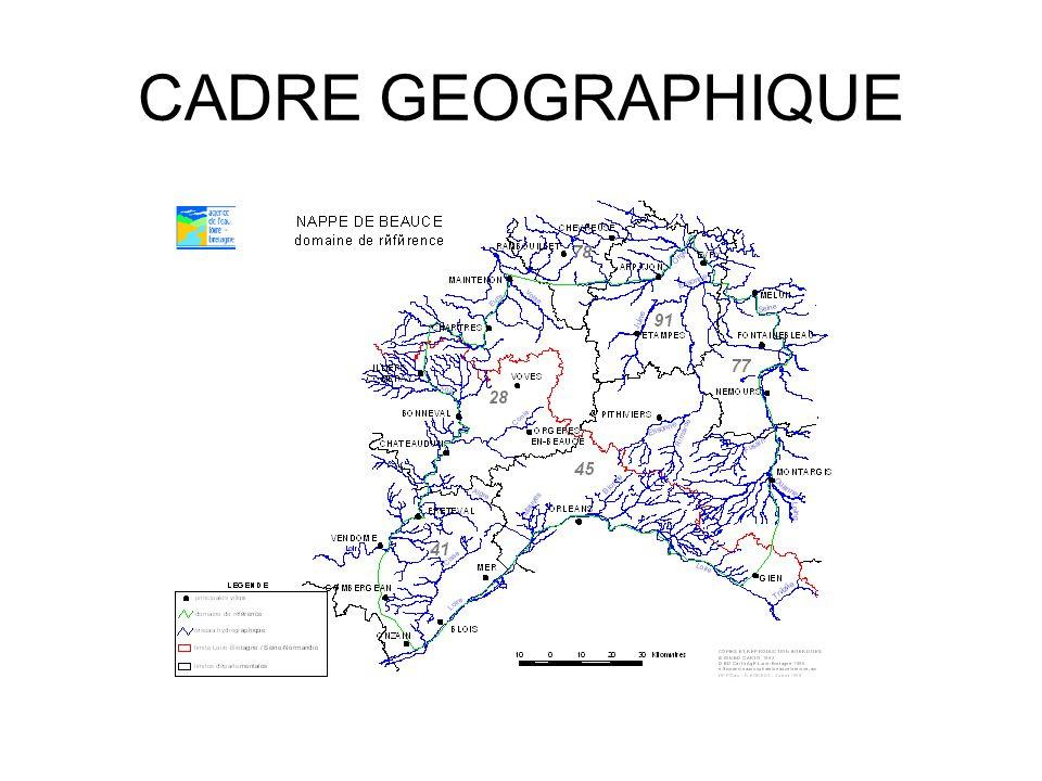 Rivières 9 points nodaux sur cours d'eau exutoires avec DSA et DCR Objet de conflit Diminution du temps de pompage au franchissement des seuils Problème des forages proximaux