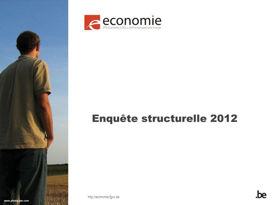 http://economie.fgov.be Enquête structurelle 2012