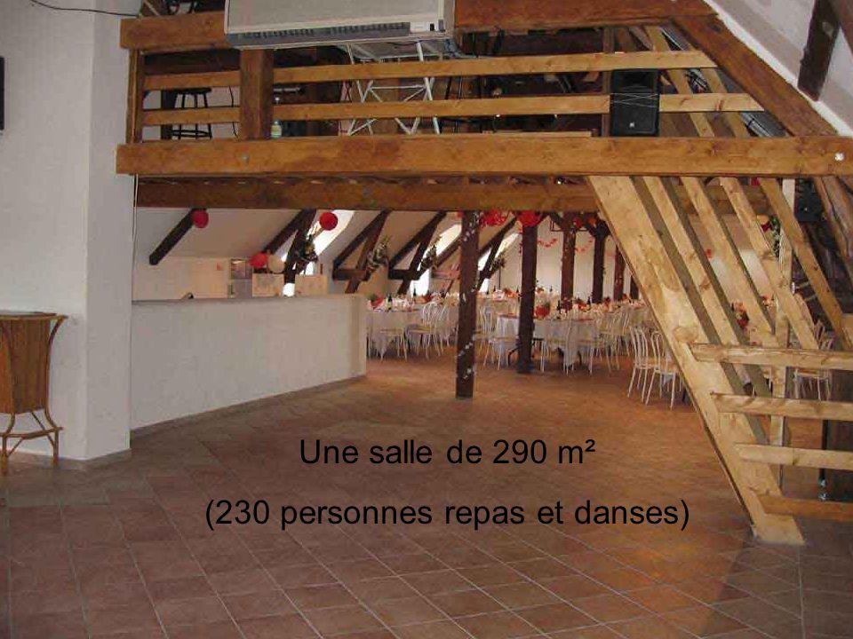 Une salle de 290 m² (230 personnes repas et danses)