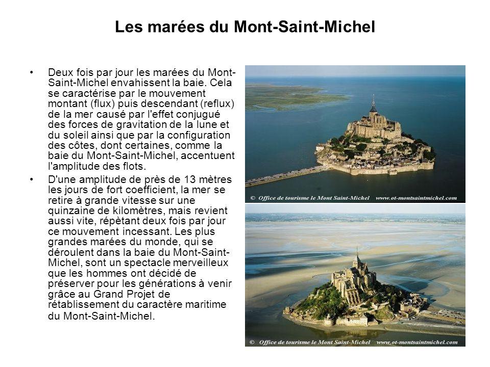 Projet écologique national En 1995, l'Etat, la Région de Basse-Normandie, la Région Bretagne et la commune du Mont-Saint- Michel signent le projet de rétablissement du caractère maritime du Mont-Saint-Michel.