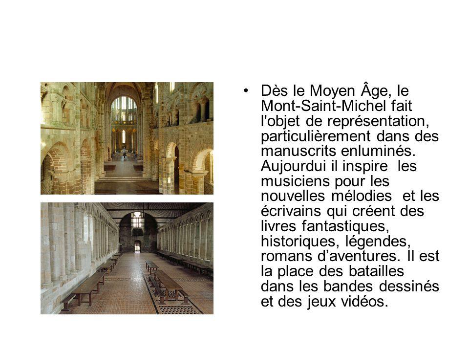Dès le Moyen Âge, le Mont-Saint-Michel fait l objet de représentation, particulièrement dans des manuscrits enluminés.