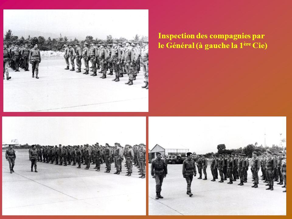 Base aérienne de Solenzara - Corse le 18. Mai 1978 Arrivé du Général Lacaze Présentation du Régiment au Général