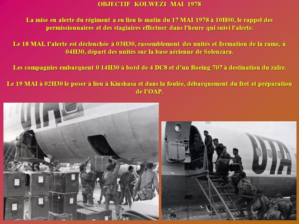 Inspection des compagnies par le Général (à gauche la 1 ère Cie)