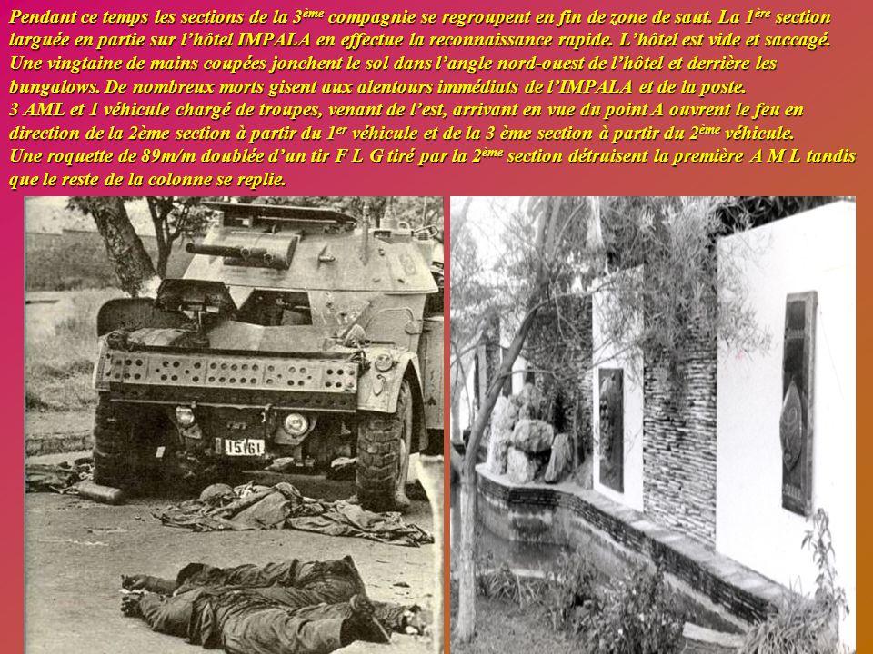 Deux rebelles repérés sont abattus par les tireurs d'élite et leurs armes sont récupérées. La précision des tirs de la compagnie semble provoquer un v