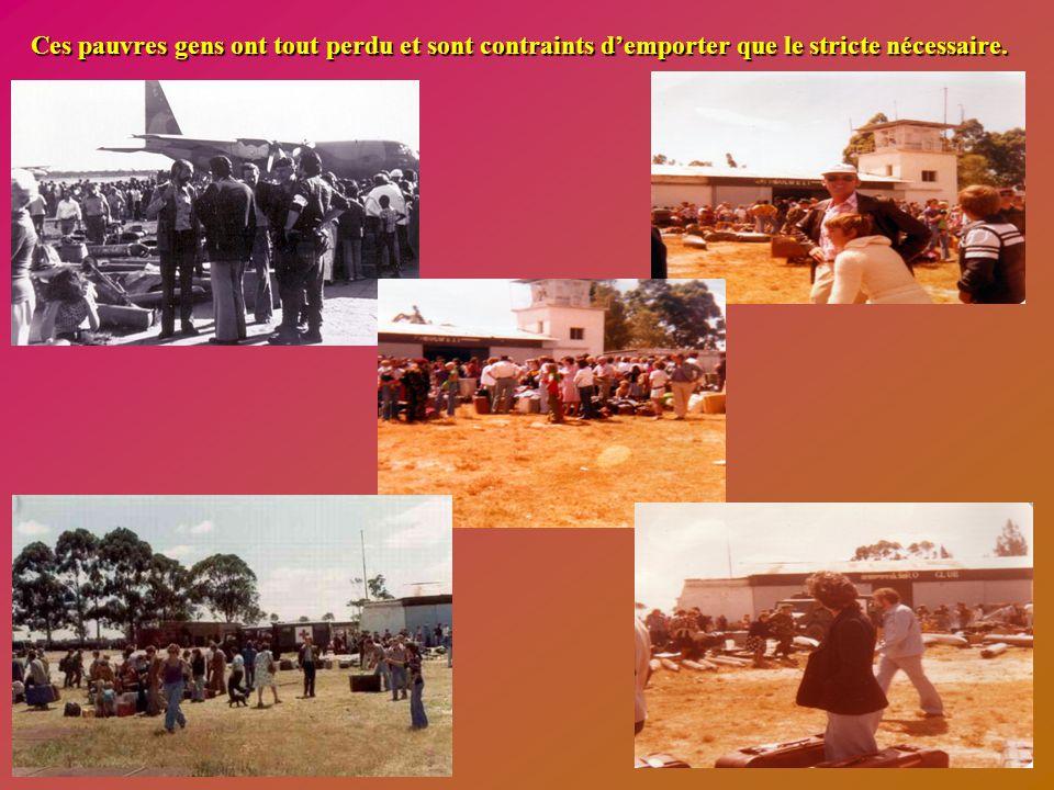 L'évacuation des Européens sous la responsabilité des parachutistes belges s'est poursuivie toute la journée et les renseignements recueillis font éta