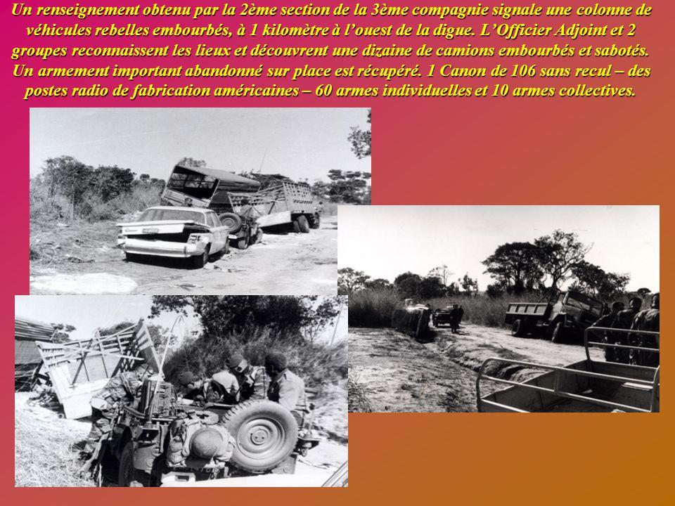 Journée du lundi 22 mai 1978 - 07 h°° Opération prévue dans l'après-midi sur le village de KAPATA ou des renseignements signalent la présence de rebelles.