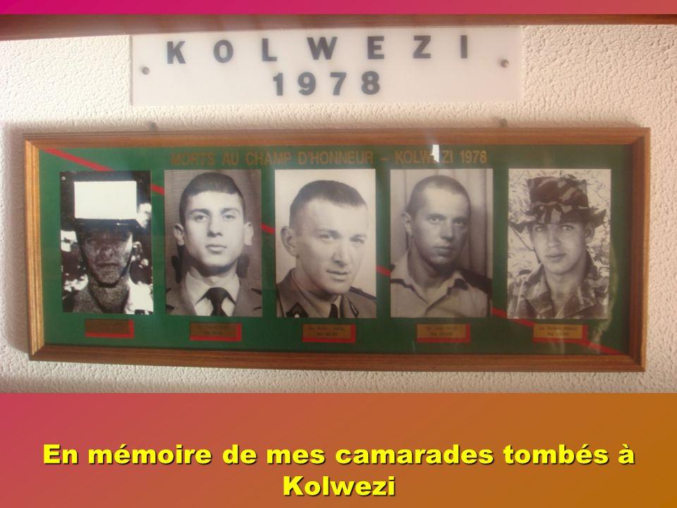 En mémoire de mes camarades tombés à Kolwezi