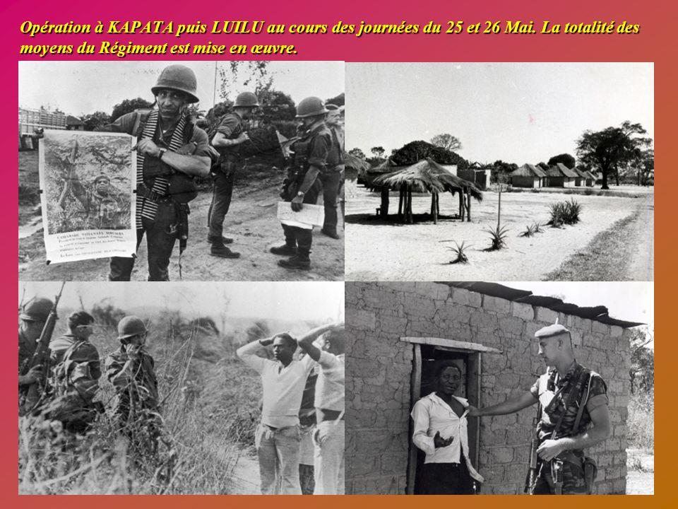 Journée du mercredi 24 mai 1978 La journée est consacrée à la remise en condition des unités et à la récupération des gaines et des parachutes.