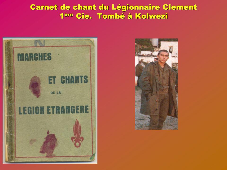 Journée du mardi 23 mai 1978 Préparation d'une opération sur le village de LUILU situé à 10 kilomètres au nord-ouest de KOLWEZI.