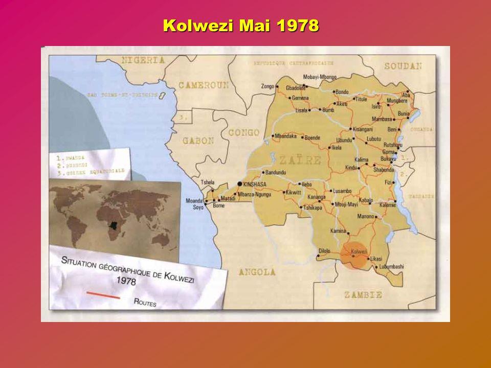 Dimanche 04 Juin 1978 La Section d'Eclairage assure la relève au pont tandis que la 1ère compagnie est chargée de remplacer la 3ème compagnie à l'hôtel IMPALA de KOWEZI.