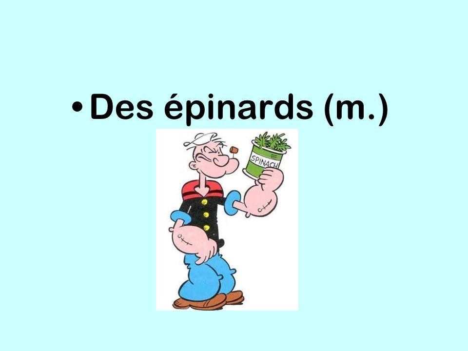 Des épinards (m.)