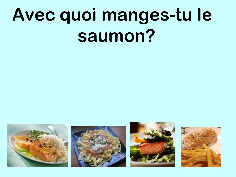 Avec quoi manges-tu le saumon