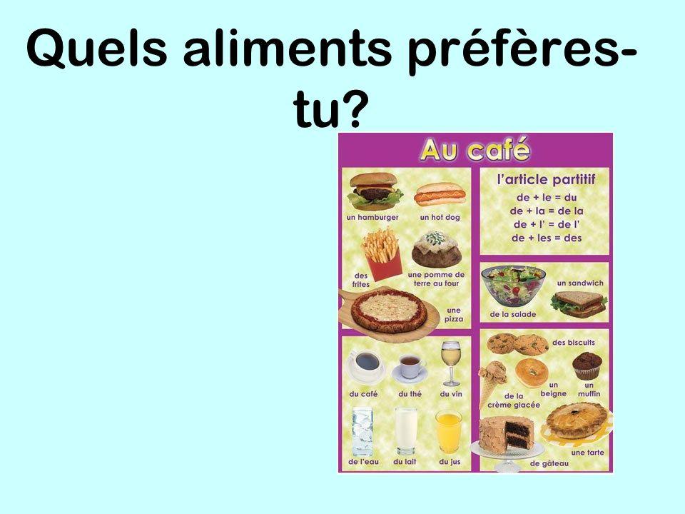 Quels aliments préfères- tu