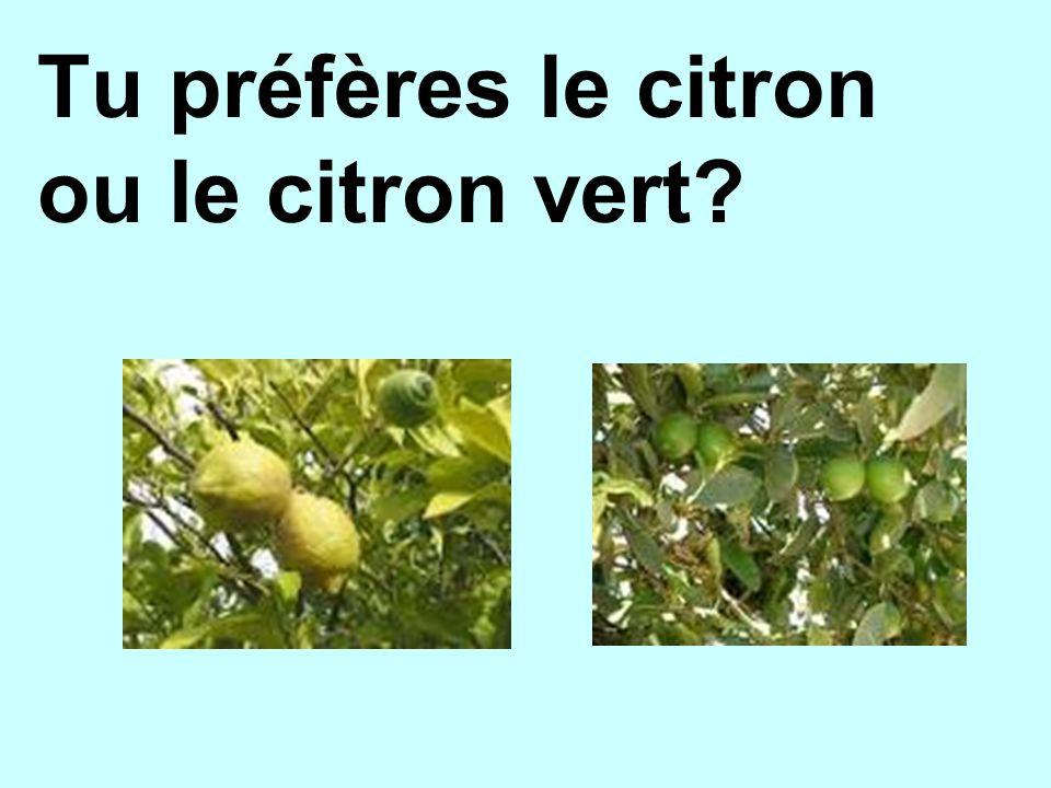 Tu préfères le citron ou le citron vert
