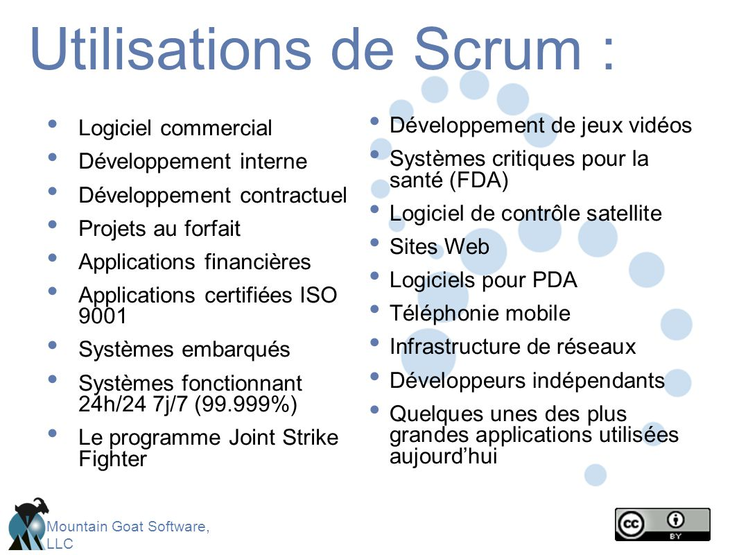 Mountain Goat Software, LLC Scalabilité avec un Scrum de scrums