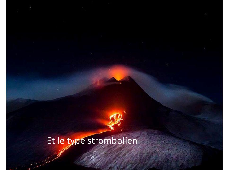 Notre volcan Etna est de type strombolien.Ce type de volcan explose et produit des coulée de lave,il projette des lapilli,des bombes,des gaz.