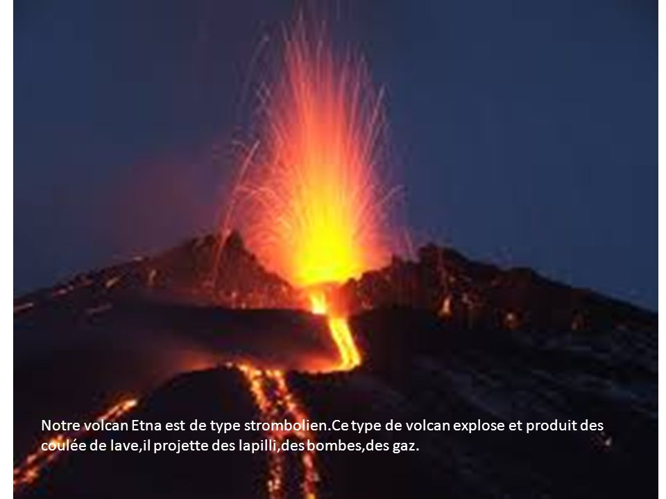 Notre Etna L'Etna a 3.300 mètres d'altitude et une base de 250 km.L'Etna s'est costitué il y a environ 500.000 à cause de la collision des plaques africaine et euroasiatique.