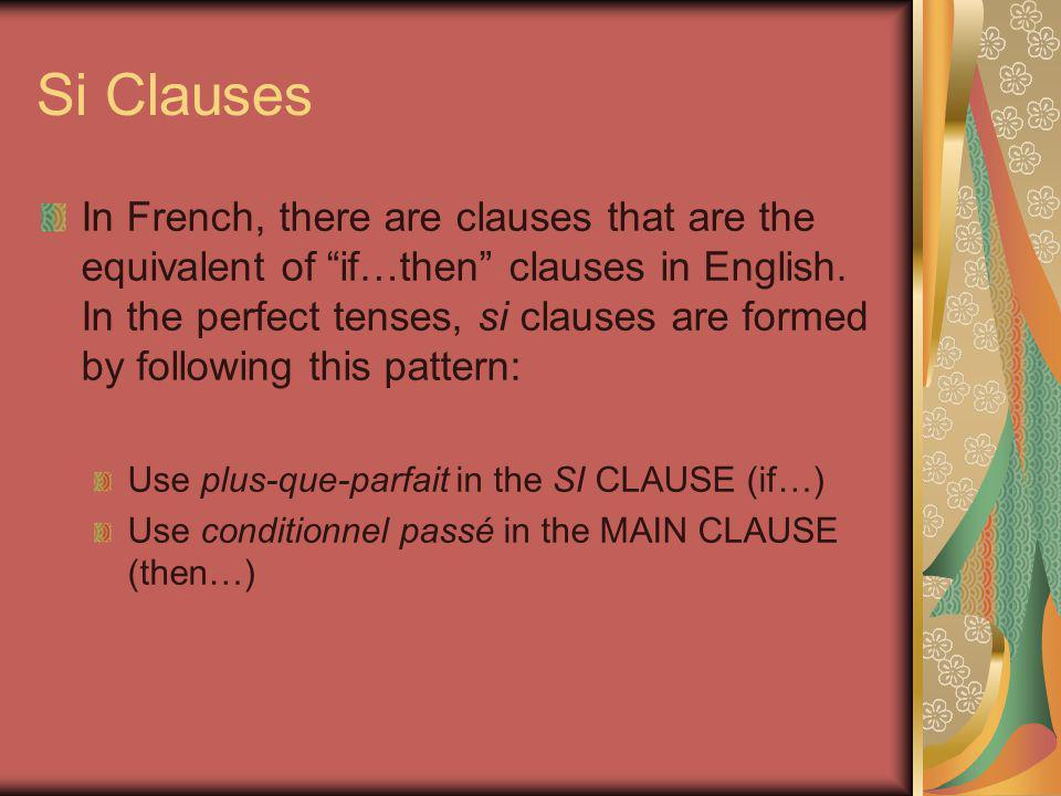 Plus-que-Parfait Remember: plus-que-parfait is formed by using the IMPARFAIT of avoir/etre plus a past participle AVOIR:ETRE: Stem: av-Stem: ét- (PLUS -ais, ais, ait, ions, iez, aient) EX: J'avais fini – I had finished Elle était sortie – she had gone out