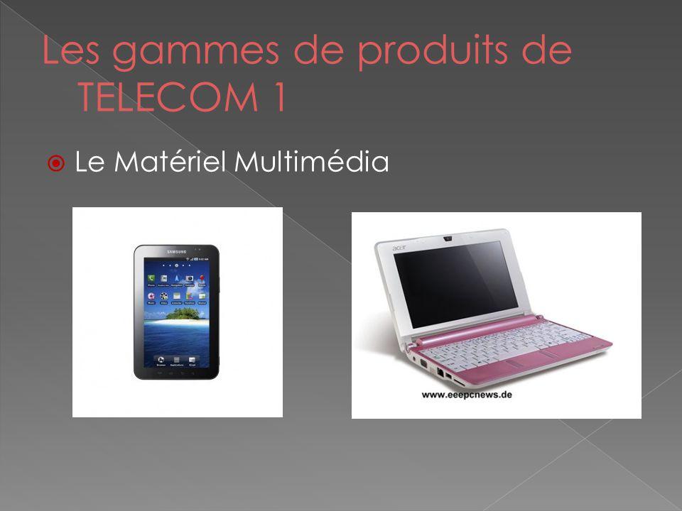Les gammes de produits de TELECOM 1  Le Matériel Multimédia