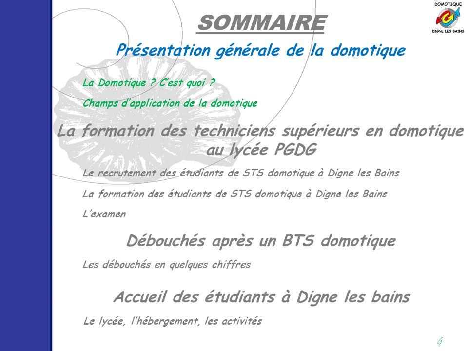 17 EXEMPLE D'IMPACT ÉCONOMIQUE Champs d'application de la domotique