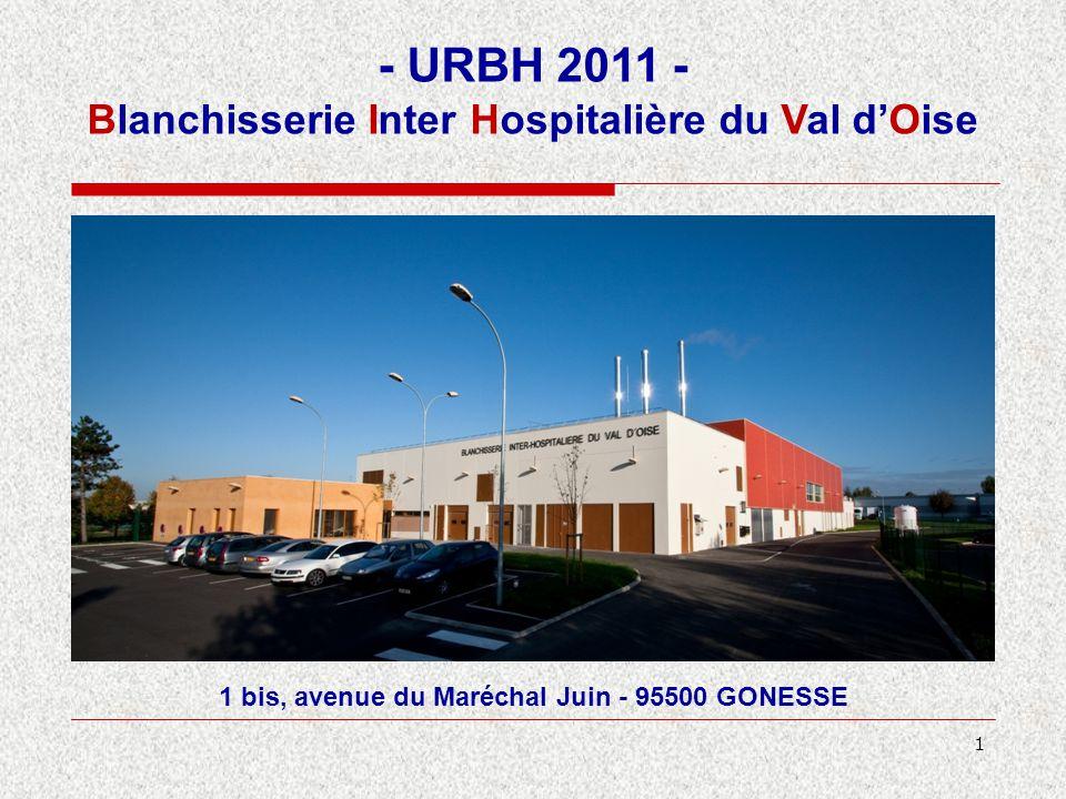 1 1 bis, avenue du Maréchal Juin - 95500 GONESSE - URBH 2011 - Blanchisserie Inter Hospitalière du Val d'Oise