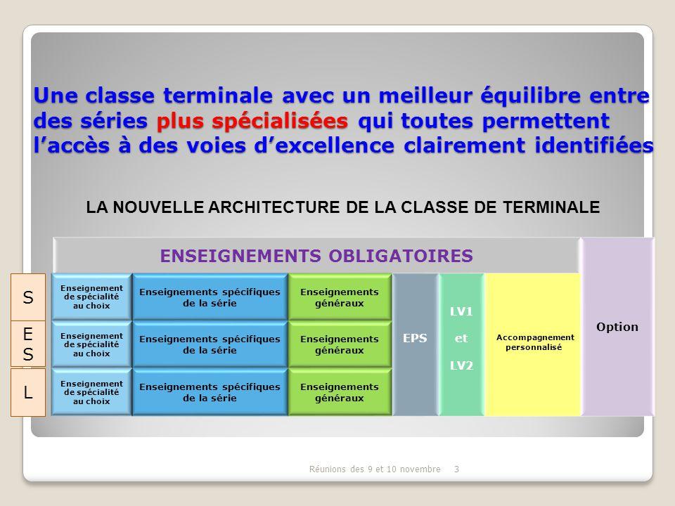 3 Une classe terminale avec un meilleur équilibre entre des séries plus spécialisées qui toutes permettent l'accès à des voies d'excellence clairement