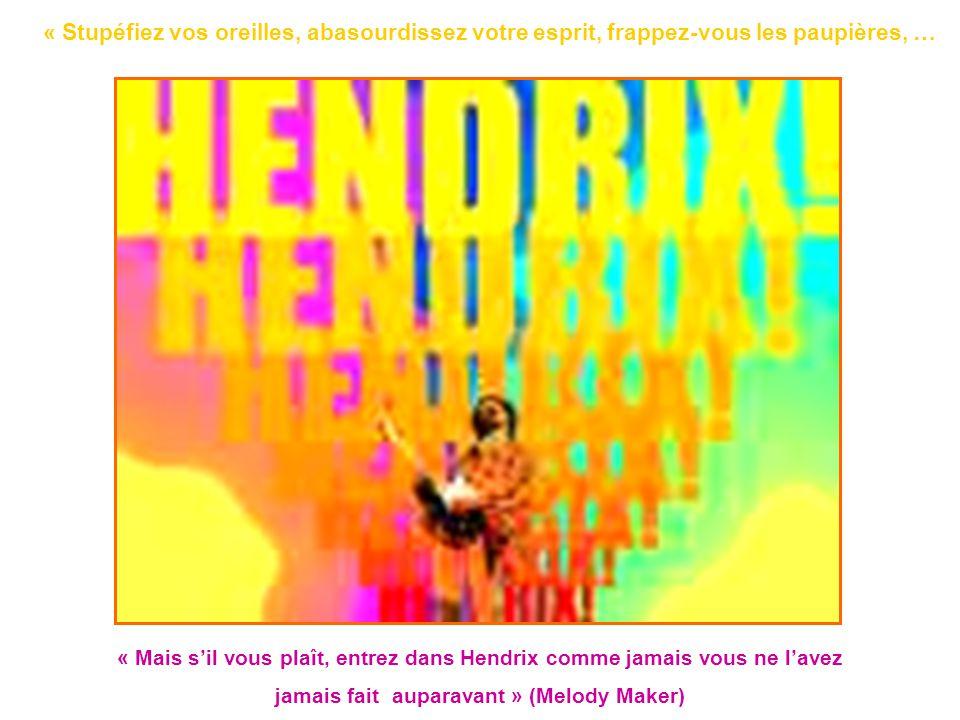 « Mais s'il vous plaît, entrez dans Hendrix comme jamais vous ne l'avez jamais fait auparavant » (Melody Maker) « Stupéfiez vos oreilles, abasourdisse