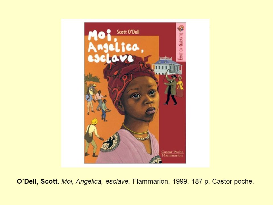 Résumé Angelica est capturée en Afrique et vendue comme esclave dans une plantation aux Antilles… Une rumeur court à travers toute l'île… Les esclaves se révoltent… (pour lecteur dès 11/12 ans) (l'auteur, né à Los Angeles, mort en 1989, a rédigé ce livre en s'entretenant avec des bibliothécaires et des professeurs des îles Saint-Thomas et Saint-John, ainsi qu'avec des descendants d'esclaves qui connurent la révolte de 1733-1734)