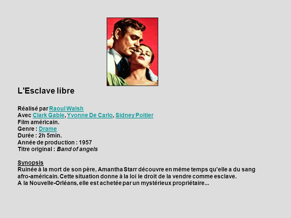 L'Esclave libre Réalisé par Raoul WalshRaoul Walsh Avec Clark Gable, Yvonne De Carlo, Sidney Poitier Clark GableYvonne De CarloSidney Poitier Film amé
