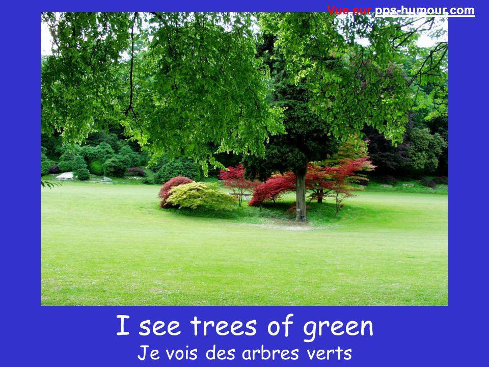 I see trees of green Je vois des arbres verts Vue sur pps-humour.compps-humour.com