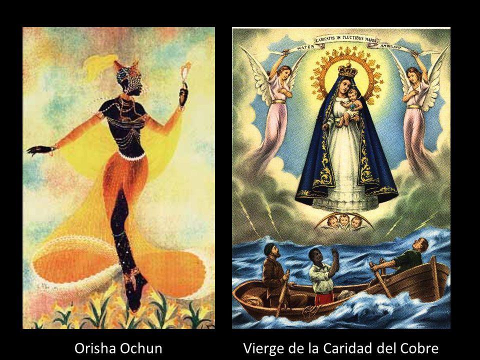 Orisha Ochun Déesse de : L'amour, féminité et des rivières Couleur: Jaune et or Fête: 8 sept. Saint équivalente: Vierge de la Caridad del Cobre (Saint
