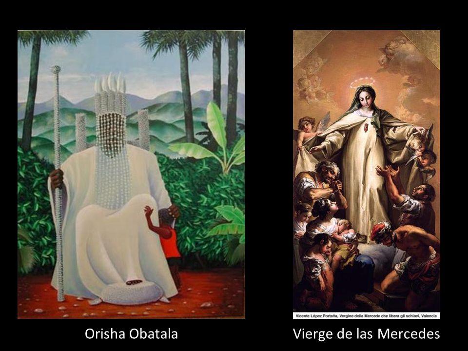 Orisha Obatala Dieu de: La paix, sagesse et songe Couleur: Blanc Fête : 24 sept. Sainte équivalente : Vierge de las Mercedes